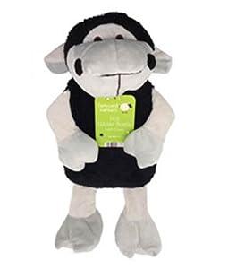 Bolsa de Agua Caliente con Funda con Forma de Animal de Granja Lindo y Suave Para Niños - Capacidad de 1 Litro - Modelo Ovejita Negra