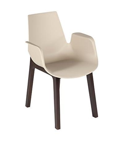 Control Brand Hordaland Arm Chair, Beige/Walnut