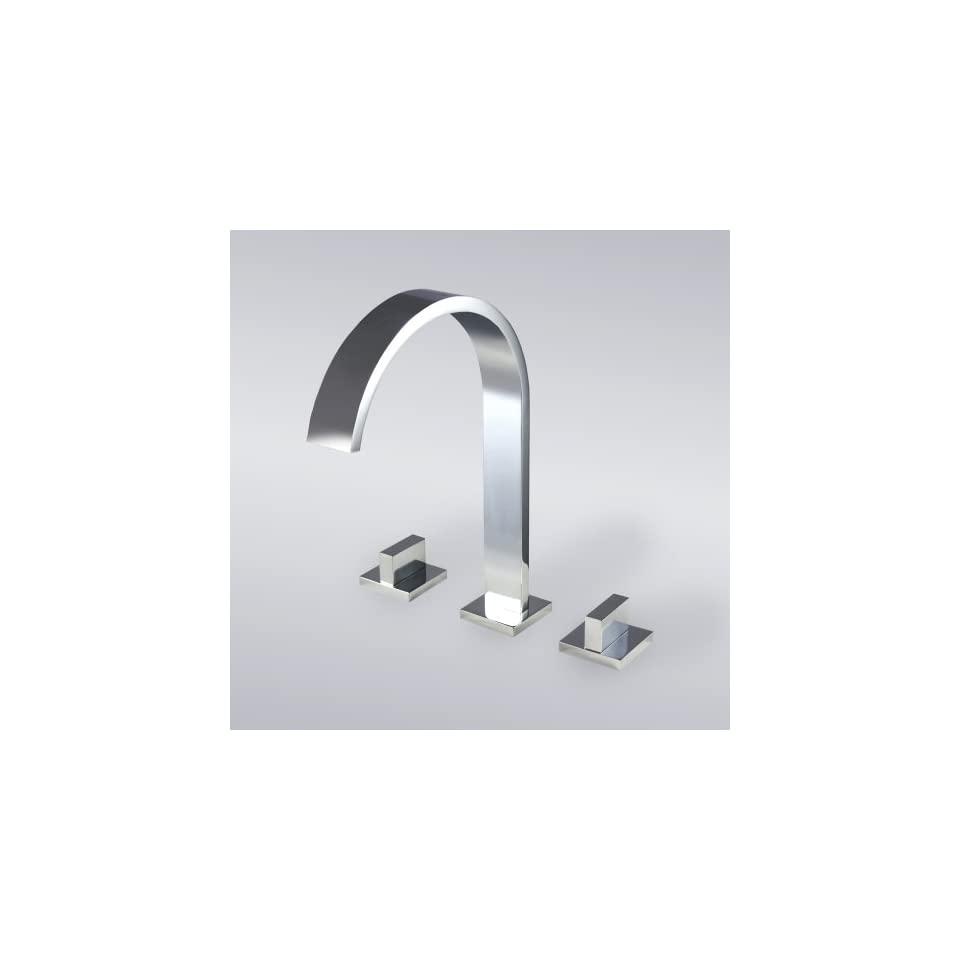 Contemporary Bathroom Vanity Sink Widespread Lavatory Faucet Chrome