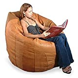 Leather beanbag couch, 'Caress' (single)