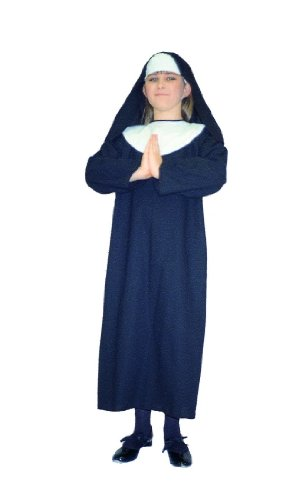 Child's Catholic Nun Halloween Costume (Sz: 46)