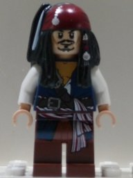 Lego Pirates Of The Caribbean: Captain Jack Sparrow Minifigure - 1