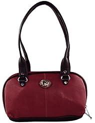 KARP Women's Vintage Casual Stylish Dark Red PU Leather Multi Compartment Large Capacity Shoulder Handbag (HandBag...