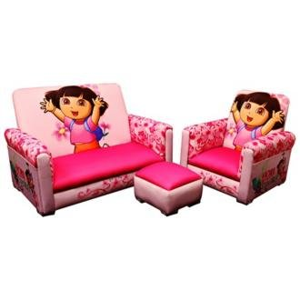 Dora the Explorer Toddler Sofa Chair and Ottoman Set  sc 1 st  Ottomans & Chair | OttomansSale.com