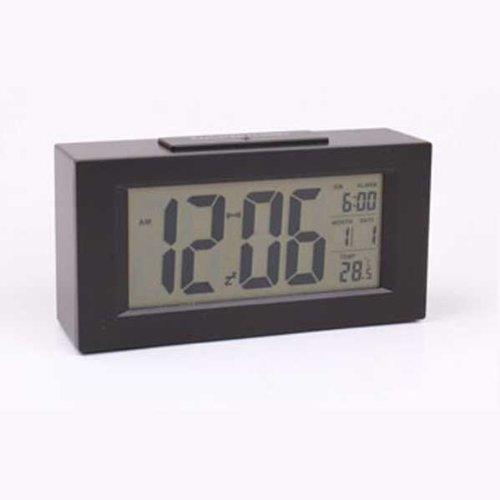 BestOfferBuy Kalender Temperatur Datum Zeit Großer Bildschirm Wecker Schwarz
