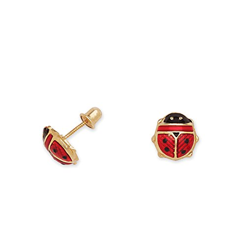 14k-Yellow-Gold-and-Red-Enamel-Ladybug-Baby-Earrings-in-Secure-Safety-Screw-backs