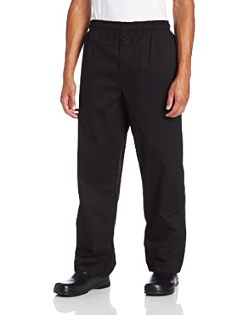 Dickies Men's Traditional Baggy with Zipper Fly Chef Pant, Black, X-Small