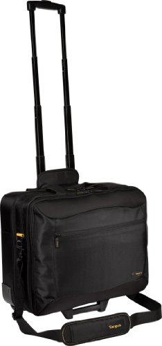 Targus CityGear Rolling Travel Case for 17 Inch Notebooks TCG717 (Black with Yellow)