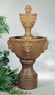 Medium Two-Tier Cast Stone Leonesco Fountain