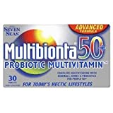 THREE PACKS of Multibionta Probiotic Multivitamins 50+ 30 Tablets
