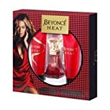 Heat by Beyonce Eau de Parfum Spray 30ml, Gold Sparkling Body Lotion 75ml & Pearl Exfoliating Shower Gel 75ml