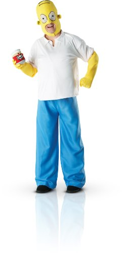 HOMER SIMPSON ADULT'S FANCY DRESS OUTFIT MEN'S SUIT GENT'S HALLOWEEN COSTUME NEW