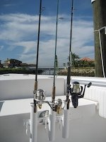 SeaSucker Vacuum Mounted 3-Rod Holder with 4 1/2 inch cup