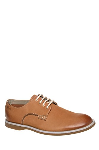 Clarks Men's Farli Walk Tan Leather Ankle-High Leather Oxford Shoe - 11M