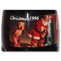 Christmas 1996 Santa In Refrigerator Coca-Cola Bottle front-301375