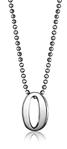 "Alex Woo ""Little Numbers"" Sterling Silver Number 0 Pendant Necklace, 16"""