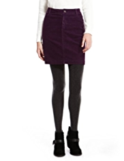 Indigo Collection Cotton Rich Jet Pocket Corduroy Mini Skirt