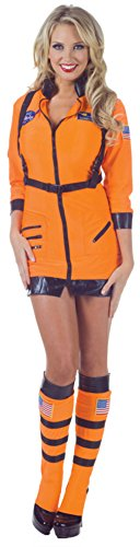Underwraps Womens Uniforms Astronaut Sexy Orange Halloween Themed Fancy Costume