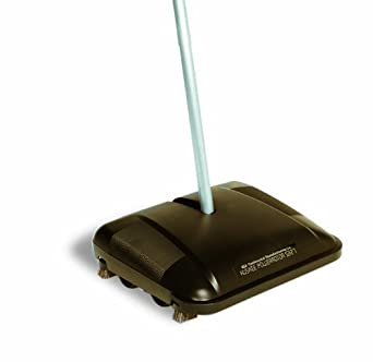 """CMC 5327 Huskee Powerrotor Floor and Carpet Sweeper, 10-1/2"""" Length x 12-1/2"""" Width x 46"""" Height, Black (Case of 5)"""