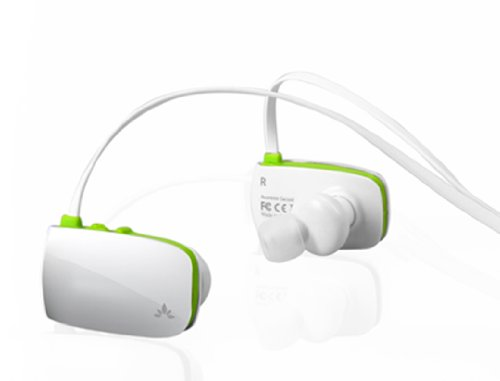 Avanree Sacool Bluetooth Wireless Noise Isolating In Ear Headphones / Headsets with mic for Handsfree music and talking - White / Green Avantree Headphones autotags B007THAXB8