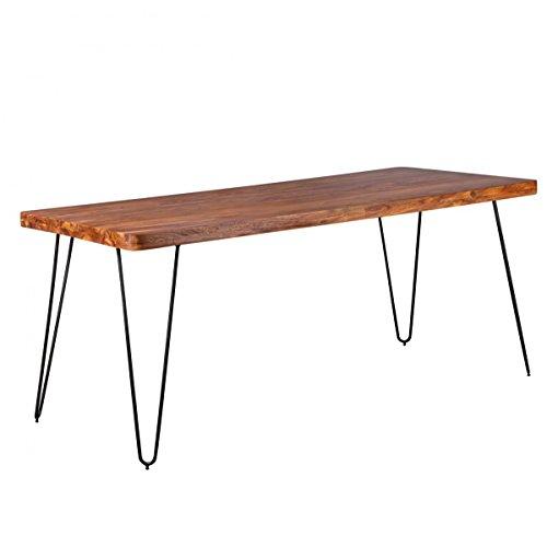 finebuy esstisch massivholz sheesham 180 x 80 x 76 cm. Black Bedroom Furniture Sets. Home Design Ideas