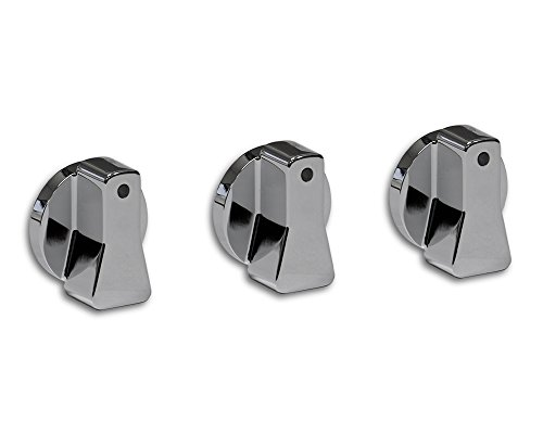 Steadfast Auto 10044 - Ford Ranger Billet Aluminum A/C Knobs - Chrome (Ford Ranger Knob compare prices)