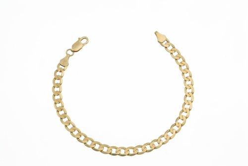 Men's Curb Bracelet, 9ct Yellow Gold, Model AFC 160 8.5