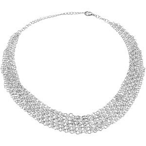 Sterling Silver Fashion Necklace 17 Inch - JewelryWeb