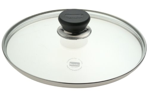 Berndes 007024 9.5 in. Tempered Glass Lid with Stainless Knob