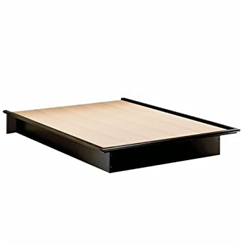 Best Beds South Shore Furniture Basic Collection Queen Platform Bed with Moulding Black