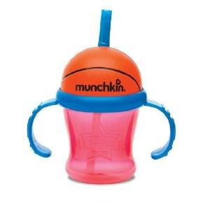 Munchkin 7 Ounce Fun Trainer Cup with Handles (Basketball)