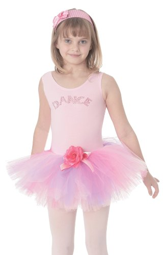Posh Int'l Girls Pink Ballet Costume Kids Tutu Dress Dance Class Outfit