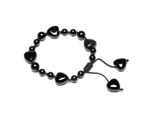 Lola Rose 'Ruthie' Black Agate Bracelet 17.5cm