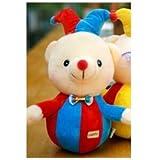 New Imported 23 Cm Tumbler Clown Bear Colorful Little Plush Doll For Kids - B073GQKQVG