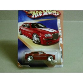 2009 Hot Wheels Track Stars Red Chrysler HEMI 300C w/ Blings #61/190 (7 of 12) 1:64 Scale - 1