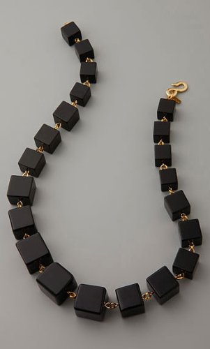 Kenneth Jay Lane Black Onyx Stone Necklace. Also Available in Purple. (36