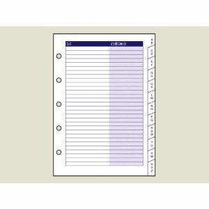 Baier & Schneider Formular für Timer, Adressen Ersatz, Timer, Mini, 4-sprachig, 16 Blatt