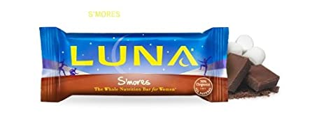 Clif Bar Luna Nutrition Bar For Women, S'Mores 48 g (Pack of 15) [Kohlenhydrate]