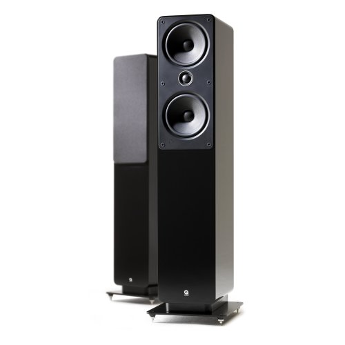 Pair of Floorstanding Speakers with 2-Way Reflex Enclosure Type in Black