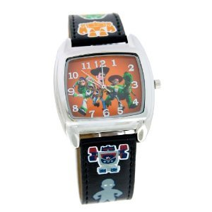 Disney Toy Story Analog Watch With Black Leather Strap #41635
