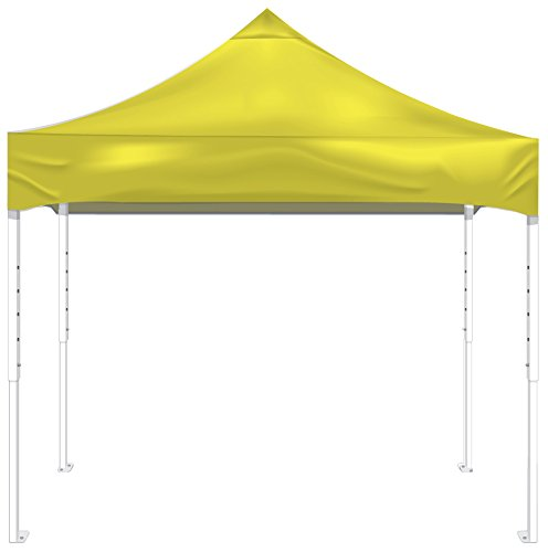 Kd Kanopy Pf100Y Party Shade Steel Frame 1-Piece Pop-Up Indoor/Outdoor Portable Canopy, 10 By 10-Feet, Yellow
