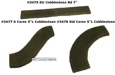 Terrain: Finished Roads - 6mm Cobblestone Road Set 12pc/6ft (Finished)