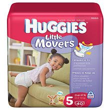 Huggies 40Ct Natural Fit Diaper Mega Pack - Size 5 - 1
