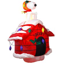 7ft Airblown Inflatable Christmas Snoopy on Doghouse