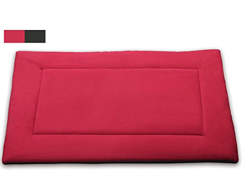 Pet Dog Crate Mat Comfort Padded Cat Bolster Bed(XL,Red) By WEONE