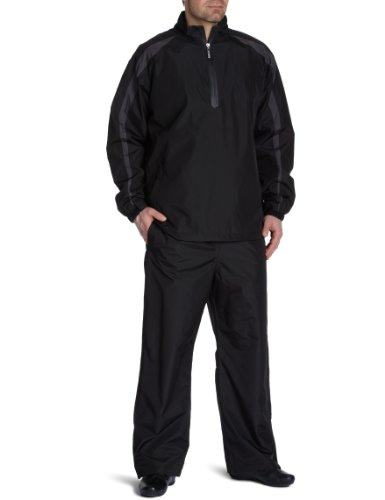 PGA Tour Anchorage Men's Waterproof Suit - Black/Grey, Large / Long Leg