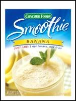 Concord Banana Smoothie Mix, Net Wet 2 Oz (57g) (Pack of 6)