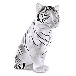 Lalique Sitting Tiger Black Enameled