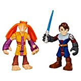 Star Wars 2011 Playskool Jedi Force Mini Figure 2Pack - Anakin Skywalker & Jar Jar Binks