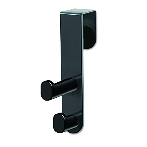 Safco Products 4227BL Over the Door Double Coat Hook, Black (Over The Door Double Hook Black compare prices)